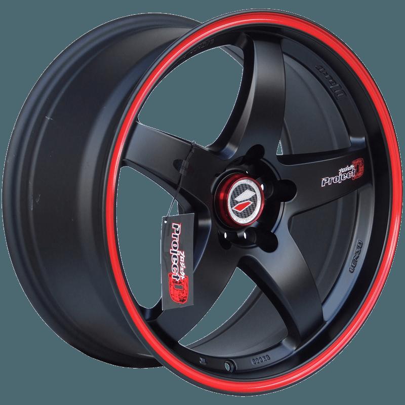 Lenso - D1R (Matt Black / Red Pin Stripe)