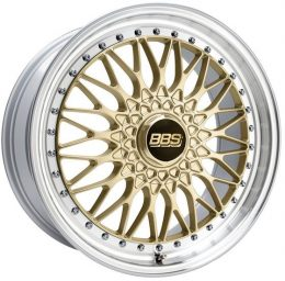 BBS - Super Rs (Forged Split Rim) (Gold With Polished Rim)