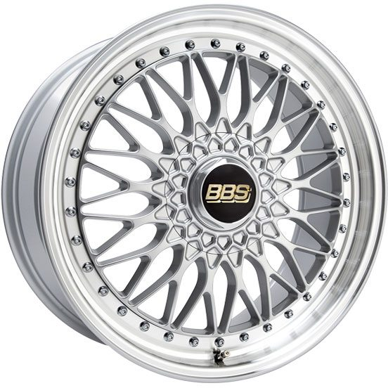 BBS - Super Rs (Forged Split Rim) (Decor Silver With Polished Rim)