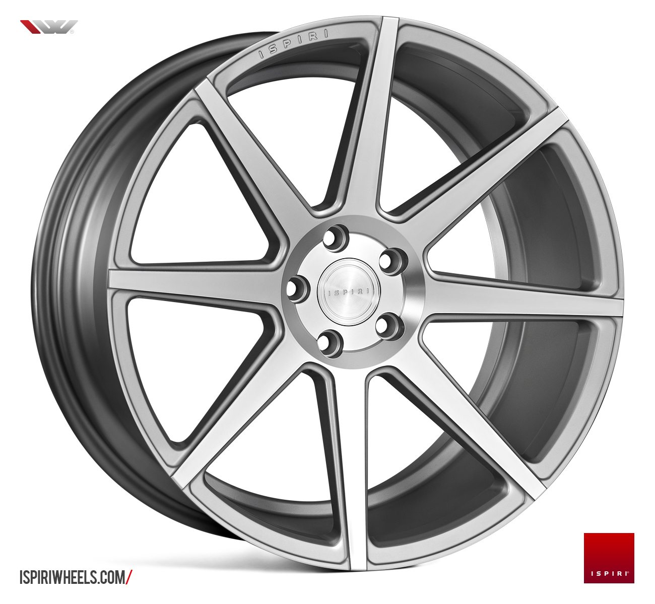 IW Automotive - ISR8 (Satin Silver Machined)