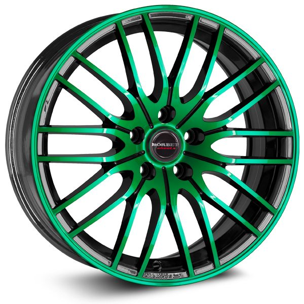 Borbet - CW4 (Black Green Glossy)