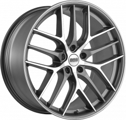 BBS - CC-R (Graphite with Polished Face and Stainless Steel Rim)
