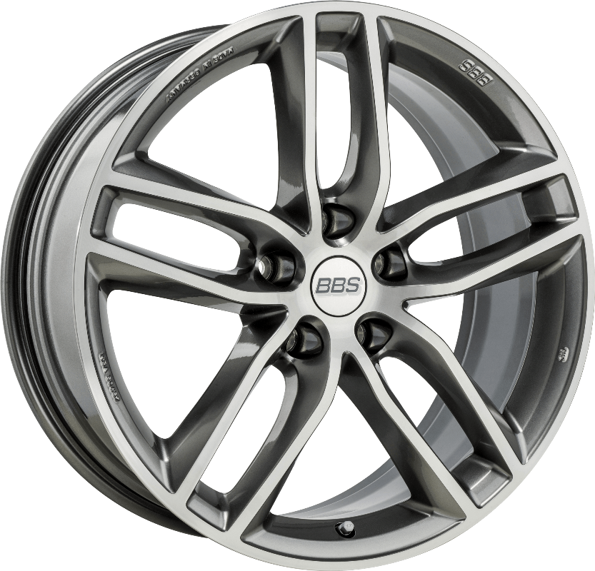 BBS - SX (Platinum Silver with Polished Face)