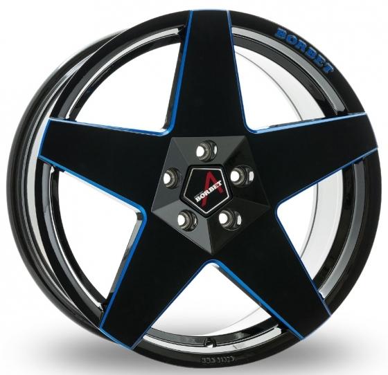 Borbet - A (Black Blue Glossy)