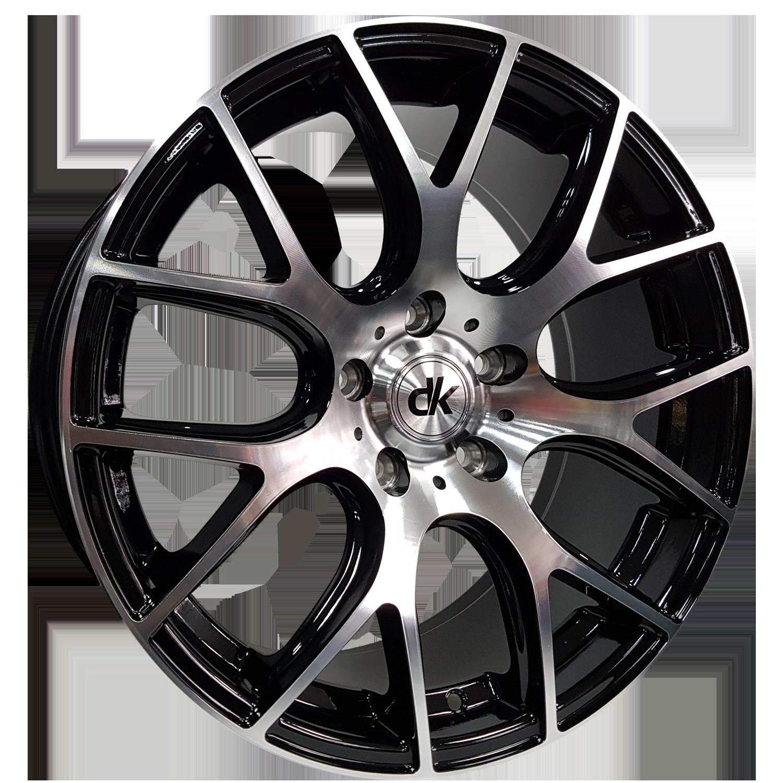 DK Wheels - 101 (Black Machined Face)