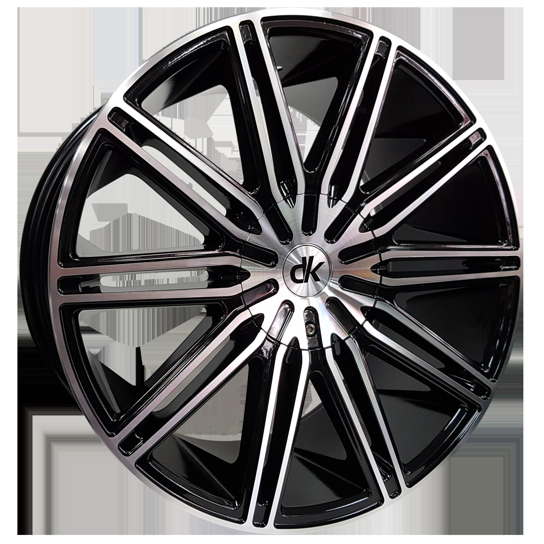 DK Wheels - 103 (Black Machined Face)