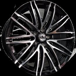 DK Wheels - 107 (Black Machined Face)