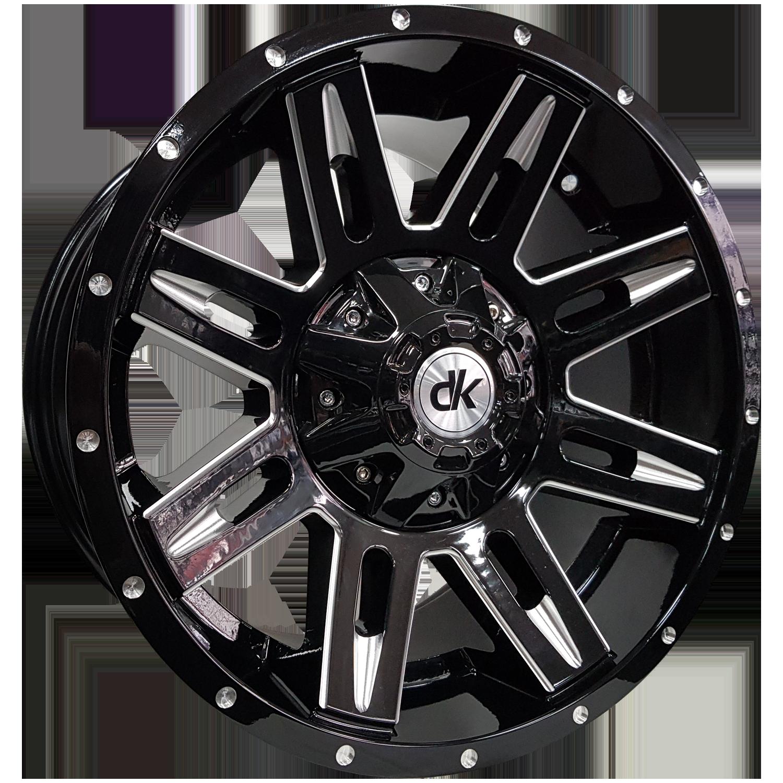 DK Wheels - TREK (Gloss Black / Milled Edges & Holes)