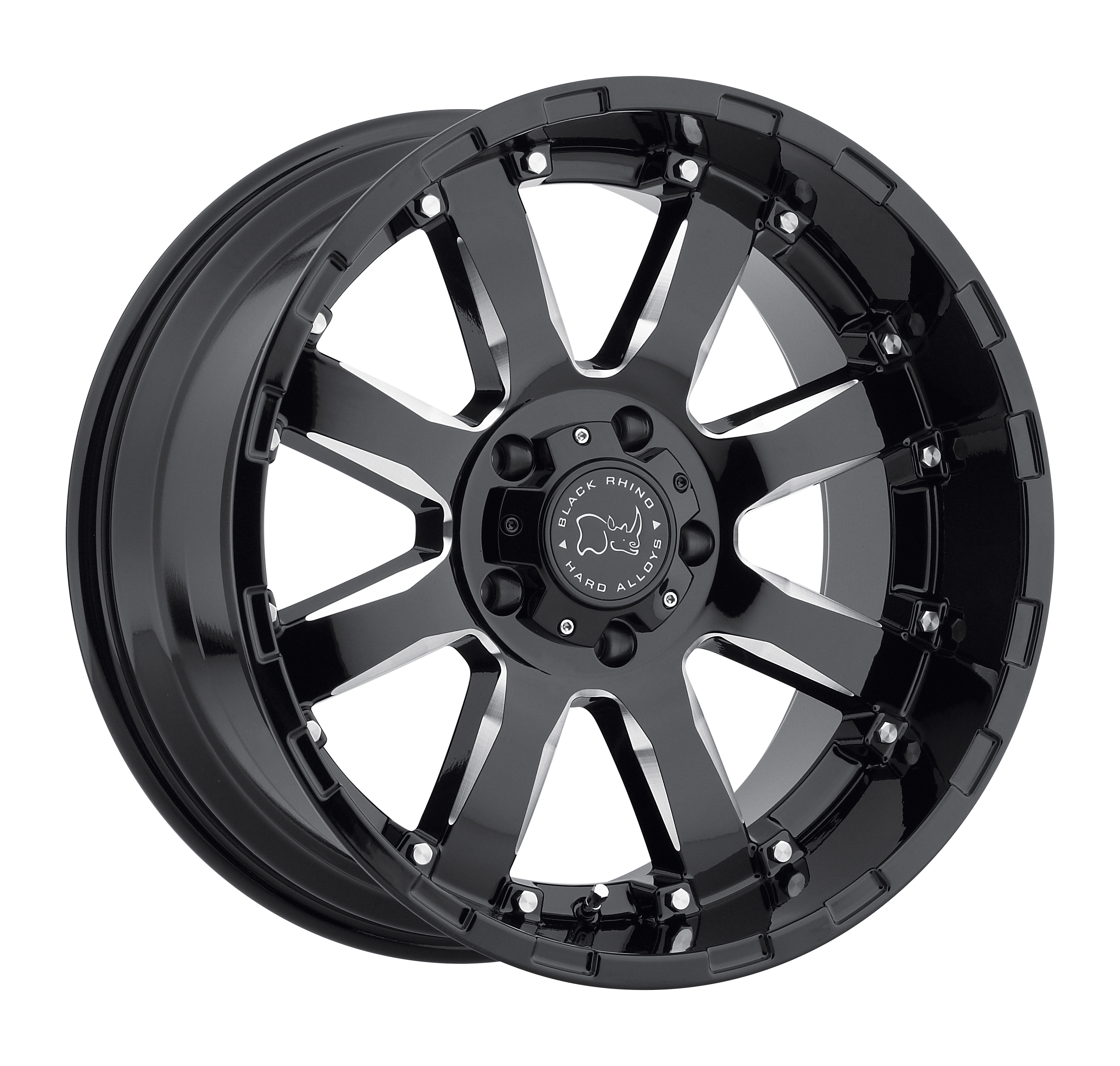 Black Rhino - Sierra (Gloss Black / Milled Spokes)