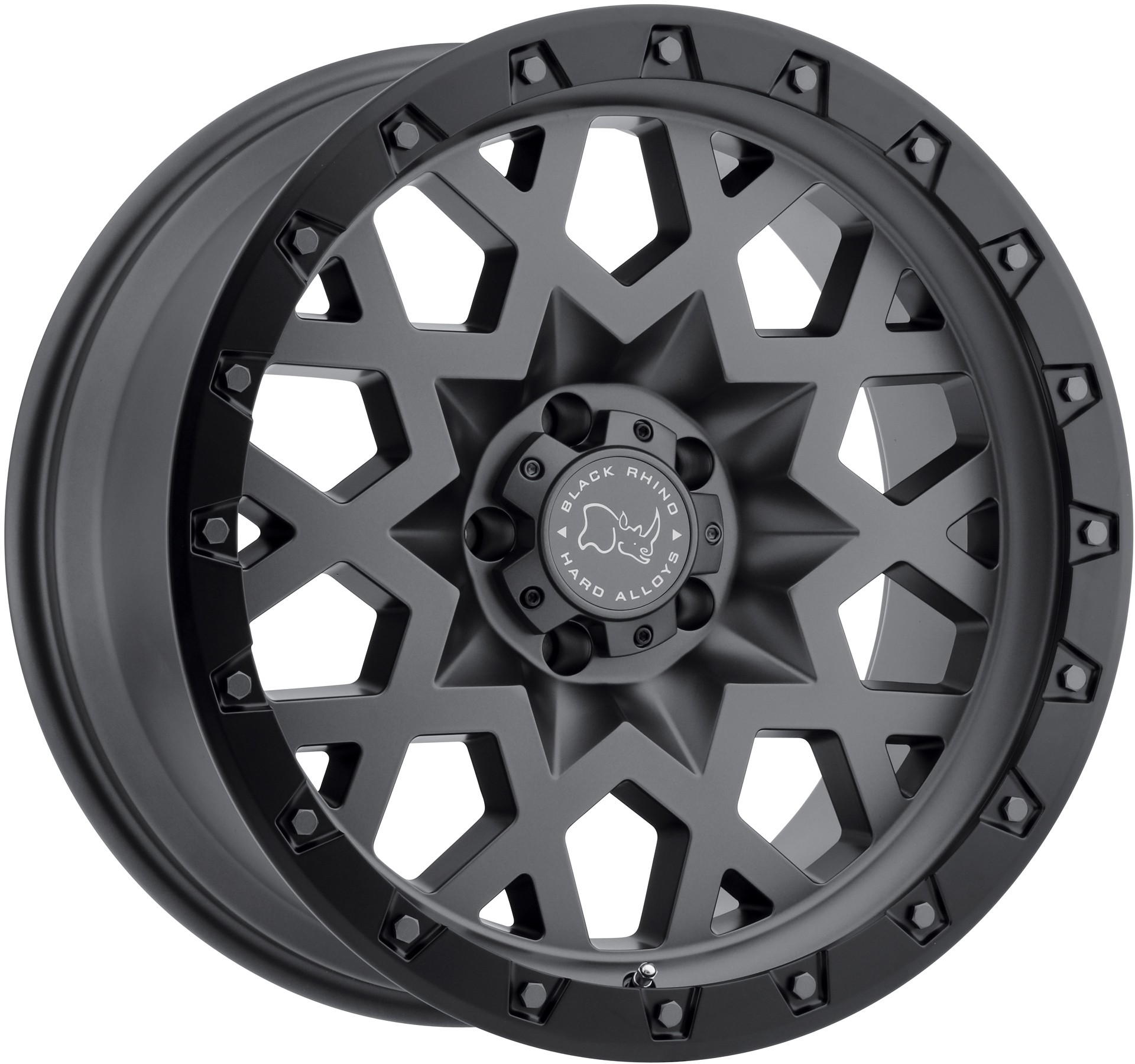 Black Rhino - Sprocket (Matte Gunmetal / Black Lip Edge (gunmetal Bolts))