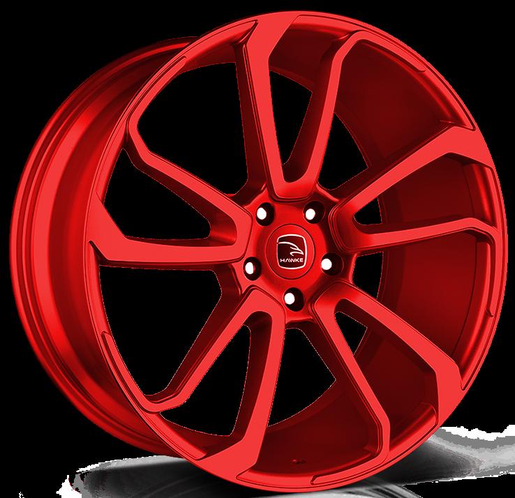 Hawke Wheels - Falkon (Cherry Red)