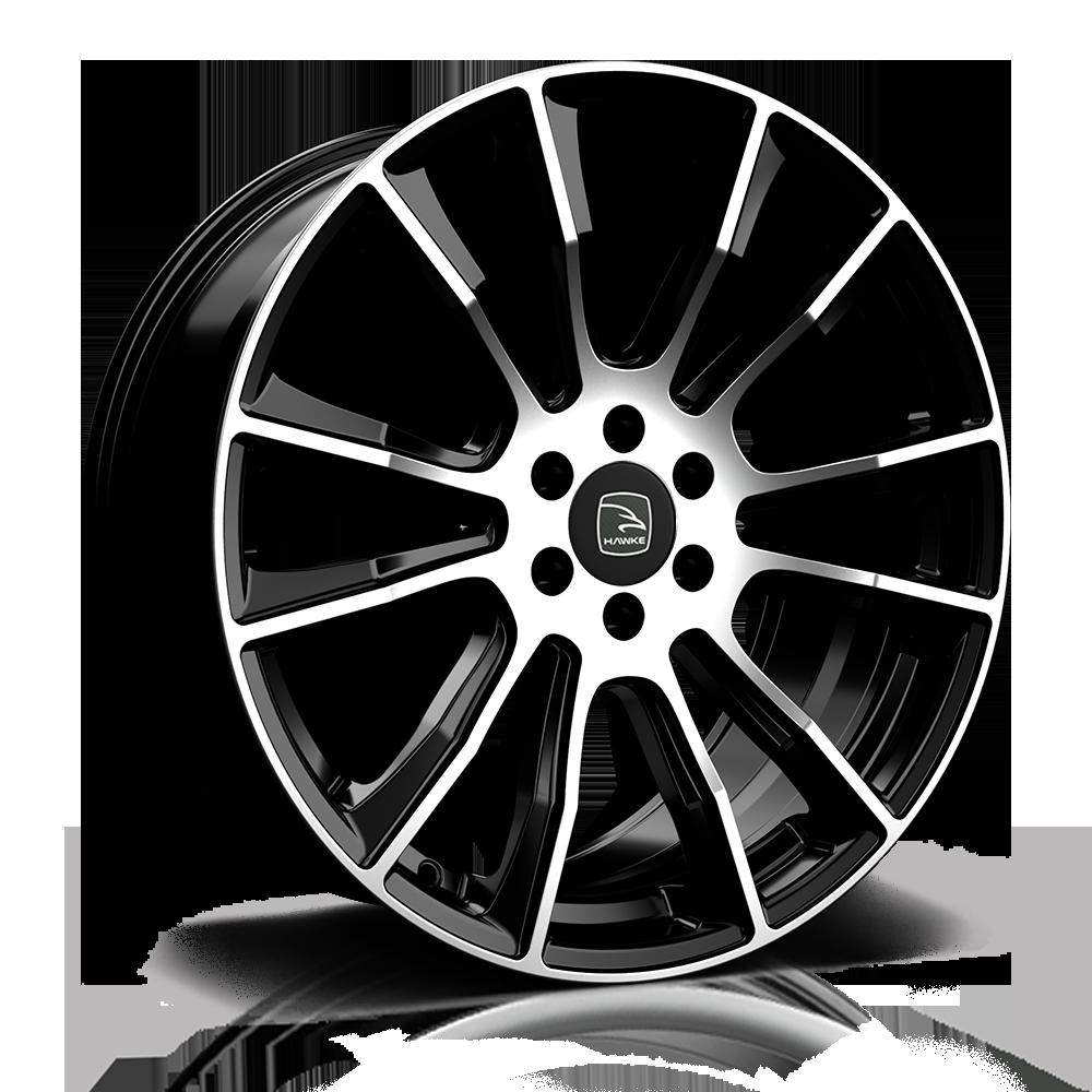 Hawke Wheels - Denali (Black Polish)