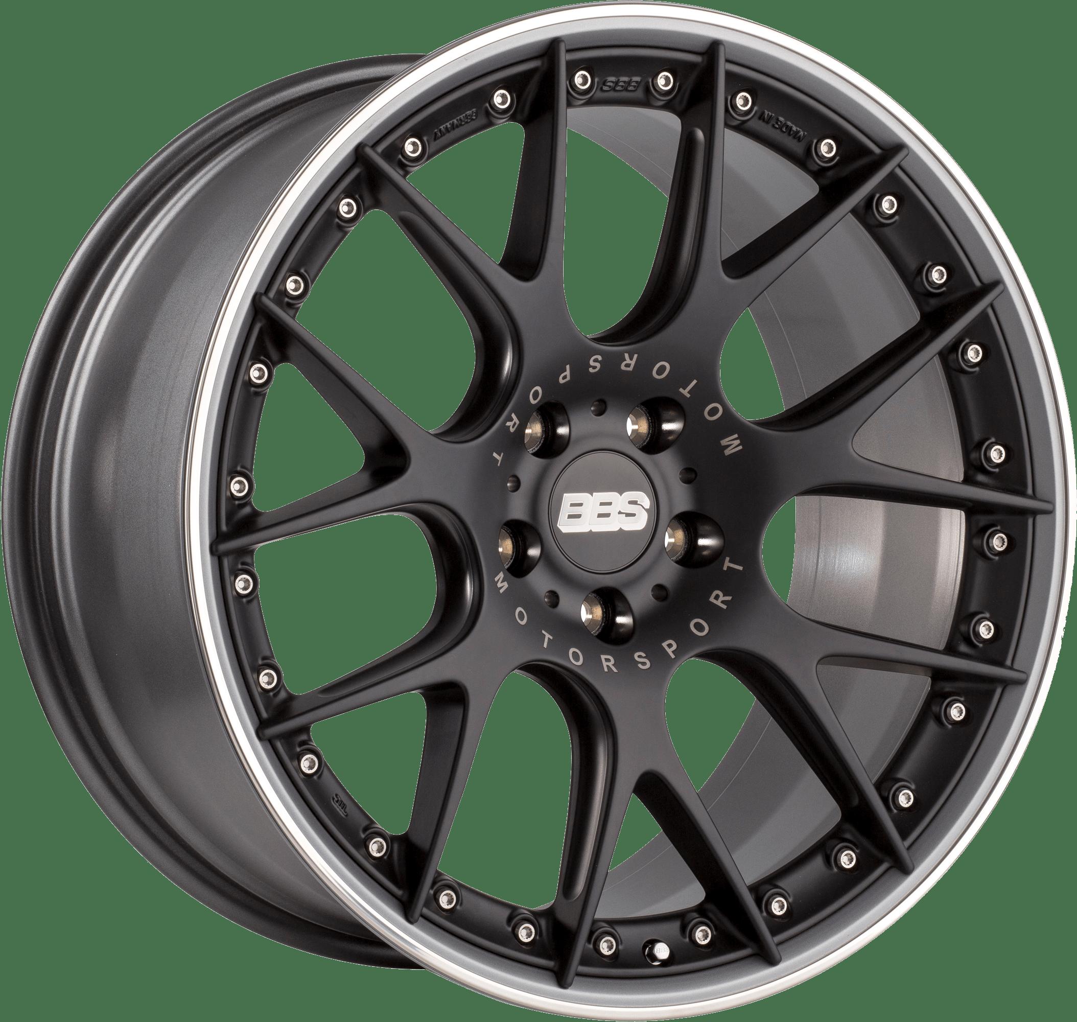 BBS - CH-R II (Flow-Formed Split Rim) (Satin Black with Stainless Steel Rim Protector)
