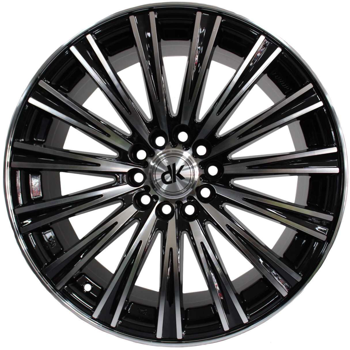 DK Wheels - 109 (Black Polished)