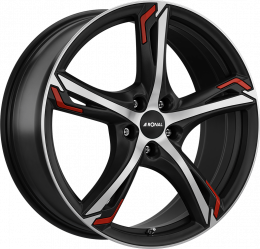 Ronal - R62 Red (Matt Jet Black Polished Red Highlights)